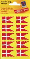 Etiket Avery flag dansk 18x34mm 40stk/pak