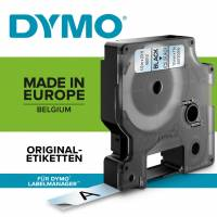 Labeltape DYMO D1 6mm sort på klar