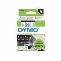 Labeltape DYMO D1 9mm blå på hvid
