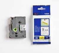 Labeltape Brother TZeS121 9mm sort på klar stærk klæb