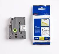 Labeltape Brother TZeS131 12mm sort på klar stærk klæb