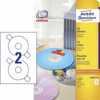 CD-labels Avery laser/inkjet Ø117mm 50stk/pak L6043-25