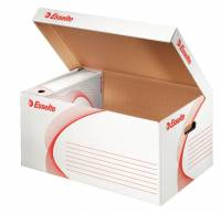 Opbevaringskasse Esselte hvid/rød 560x275x370mm