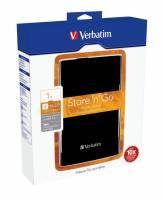 """Harddisk Verbatim 500GB 2,5"""" USB 3.0 53029 sort"""
