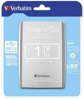 "Harddisk Verbatim 1TB 2,5"" USB 3.0 53071 silver"