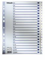 Register PP Esselte A4 A-Å m/hvid kartonforblad
