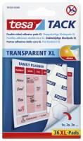 Brikker tesa Tack XL dobb. klæb transp. 36stk/pak