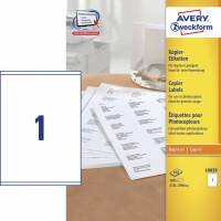 Avery 18039 Kopietiket 210x290mm 1/ark 100ark/pak