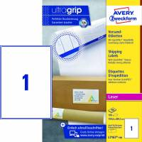 Laseretiket Avery 199,6x289,1mm 1/ark 100ark/pak L7167
