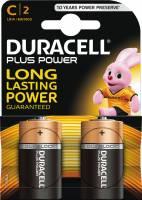 Batteri Duracell Plus Power C 2stk/pak