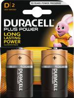 Batteri Duracell Plus Power D 2stk/pak