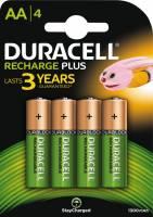Batteri Duracell genopladelig AA 1300mAh 4stk/pak