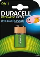 Batteri Duracell genopladelig 9V 170mAh 1stk/pak