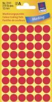 Etiket Avery rød Ø12mm 3141 270stk/pak