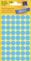 Etiket Avery blå Ø12mm 3142 270stk/pak