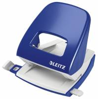 Hulapparat Leitz blå 2-huls m/skinne t/30ark 5008