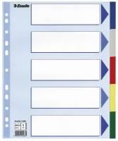 Faneblade Esselte A4 Maxi plast 5-delt 15266