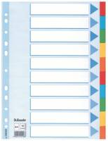 Faneblade Esselte 10-delt A4 karton (44889)100193
