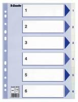 Register PP Esselte A4 1-6 hvid