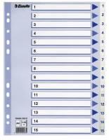 Register PP Esselte A4 1-15 hvid