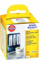 Rygetiket Avery perm. 190x59mm AS0722480