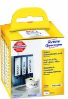 Rygetiket Avery perm. 190x59mm AS0722480