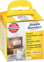 Shippingetiket Avery perm. 101x54mm 110st/rul
