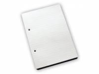 Standardblok 2 huller lin. 60g hvid A5