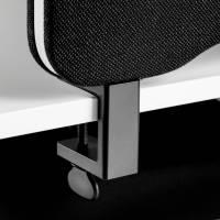 Bordbeslag sort t/skærmvæg Edge topmontering 2stk/sæt