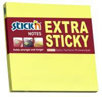 Notes Stick'N Extra Sticky gul 76x76mm 90blade