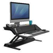 Arbejdsstation Fellowes Lotus DX Sit-Stand sort, Microban