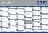 Vægkalender 2x6mdr. papir rør 100x70cm 19 0640 00