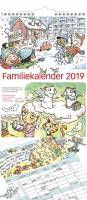 Familiekalender m/illustrationer 23x50cm 19 0661 00