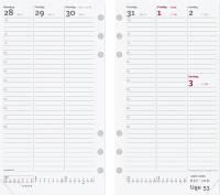 Ugekalender System PP REFILL 9,5x17cm højformat 19 2750 00