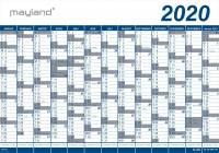 Kæmpekalender 2020 1x13mdr. PP rør 100x70cm 20 0650 00