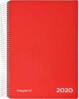 Timekalender 2020 hård PP rød 17x23,5cm 1dag/side 20 2180 10