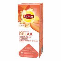 Te Lipton Ginger Lemon Relax 25breve/æsk