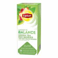 Te Lipton Green Tea Red Berries 25breve/æsk