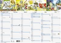 Kontorkalender A3 M/illustrationer 42x30cm 21 0631 50