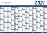 Kæmpekalender 13mdr PP plast 100x70cm 21 0651 00