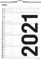 Familiekalender Black & white 24x34cm 3 kolonner 21 0665 20