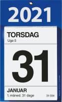 Kontorafrivningskalender m/bags. tekst 12x16cm 21 2530 00