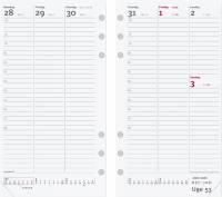 Ugekalender System PP refill 9,5x17cm højformat 21 2750 00