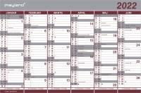Kartonkalender halvårs 44x29cm 22 0630 00 (2022)