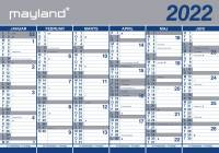 Kæmpekalender 2x6mdr papir 100x70cm 22 0641 00