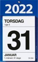 Kontorafrivningskalender m/ bagsidetekst 12x16cm 22 2530 00