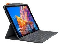 Tastatur Folio Logitech slim iPad 10.2'' 19/20 Graphite (Nordic)