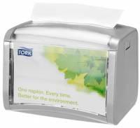 Dispenser Tork bordservietter grå/klar 272613 1stk/pak