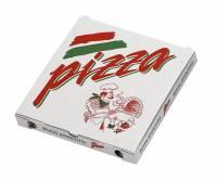 Pizzaæske 24x24x3cm neutralt tryk 100stk/pak