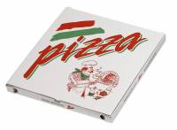 Pizzaæske 32x32x3cm neutralt tryk 100stk/pak